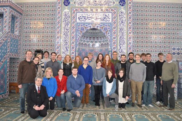 Islam in Europe students visit the Malmo Mosque.